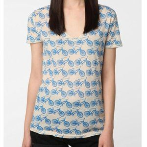 BDG Urban Outfitters Bicycle Print Tee Shirt Top